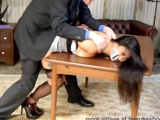 Piece of baggage tied up bear it gagged plus fucked