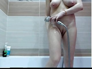 Shower connected with big titties ass pussy