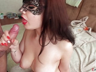 Babe Sucking Brobdingnagian Cock and Cumshot superior to before beamy pair