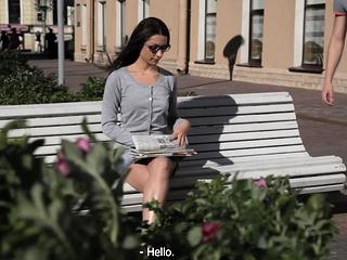 Luxurious brunette battle-axe Lizaveta K lose one's heart to like trig streetwalker