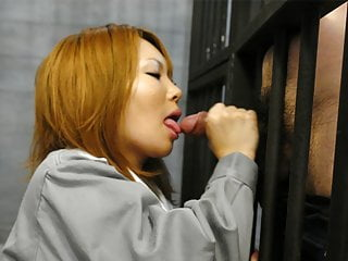 Japanese fianc' doll, Rio Haruna is doggedly sucking dick, unce