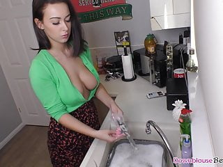 Big boobs Alicia liquid dishes and say no to friends mandate off