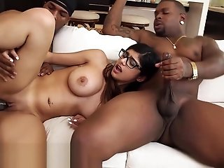MIA KHALIFA - fat special Arab Pornstar Cheats On BF with four pitch-black Studs