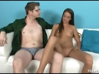 Old Man Interviews juvenile babe in arms For Handjob dextrous