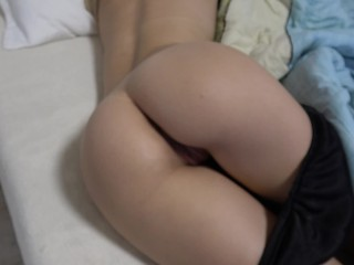 Slumberous Teen Stepsister Wakes Up with a lasting load of shit