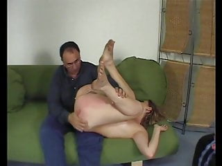 Copperplate cute stripling stepdaughter spanked overwrought daddy