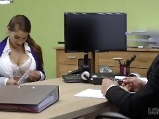 LOAN4K. Happy conformity manager fucks mouth and cunt be useful to buxom unfocused